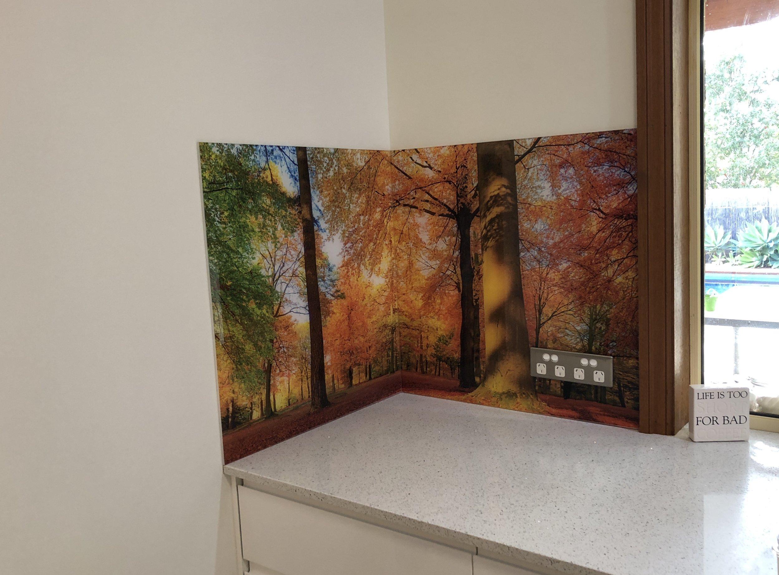 Kitchen printed acrylic splashbacks