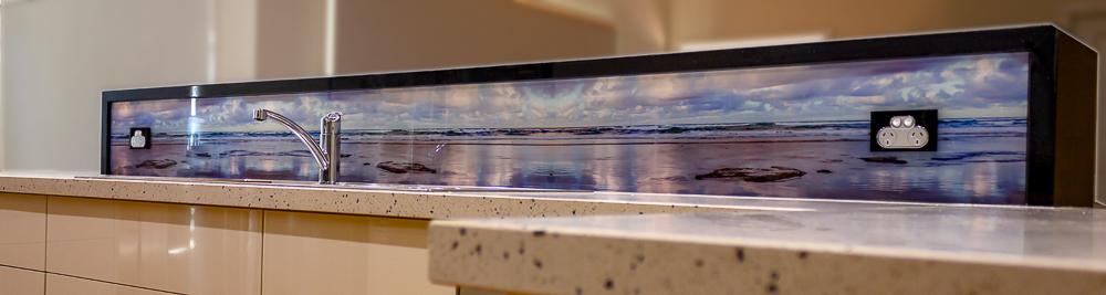 Kitchen digital print acrylic splashback