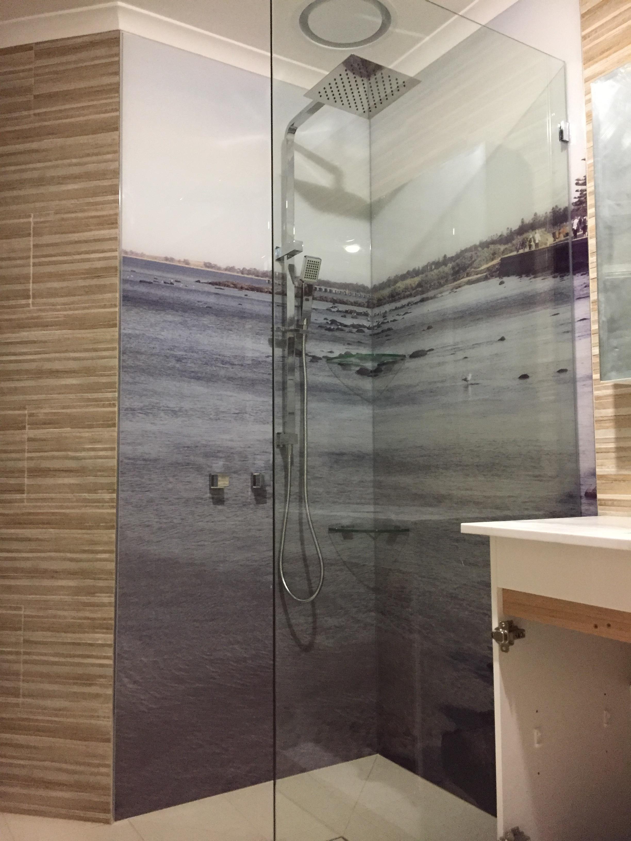 Printed Acrylic Shower Splashbacks