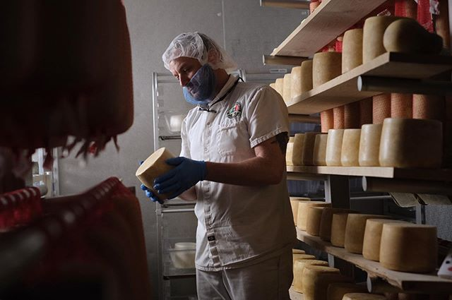 This morning's shoot was a return trip for @donovanwitmer to the cheese cave at @caputobrothers where they age several varieties of cultured cheeses — including vecchio and provolo. Their passion for making authentic cheese is only matched by their drive to help save a dying dairy industry in Pennsylvania, one farm at a time.