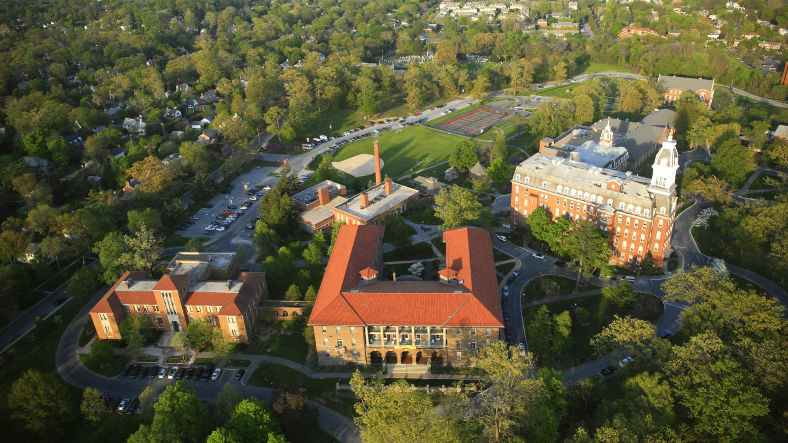 Notre Dame University of Maryland Overhead View