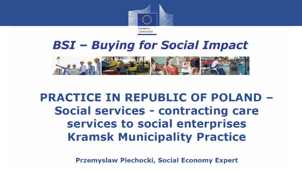 Przemyslaw Piechocki, Social Economy Expert