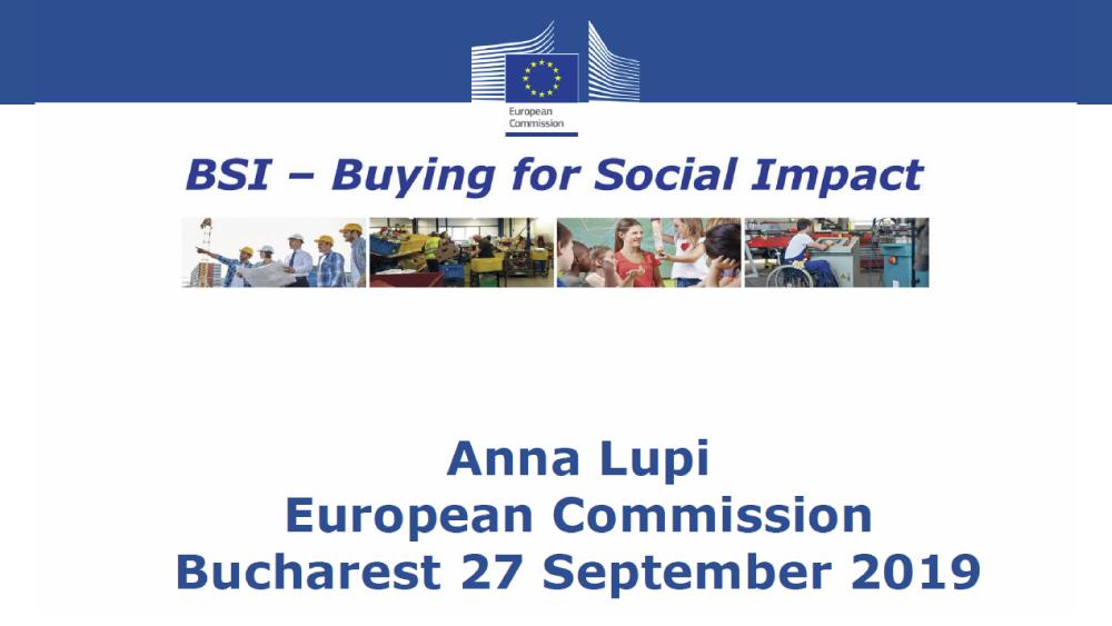 Anna Lupi, Comisia Europeana
