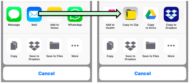 How to access iZip app