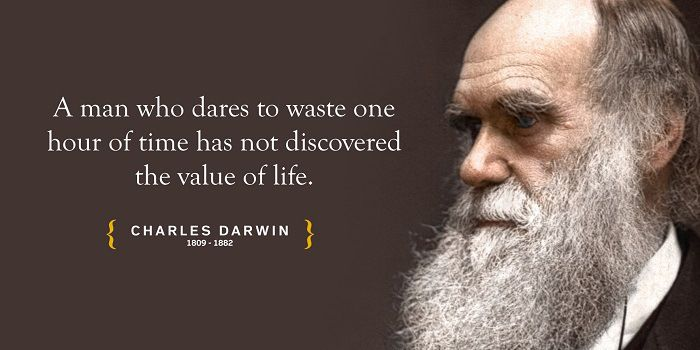 Charles Darwin quote - A man who dares to waste one hour of time has not discovered the value of life.