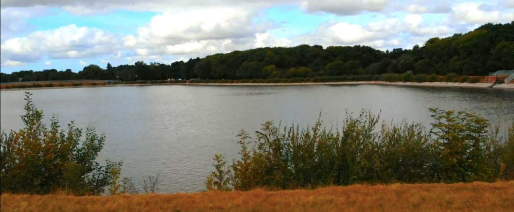 Photograph of Llanishen Reservoir in Cardiff, taken from Walk of the Week series.