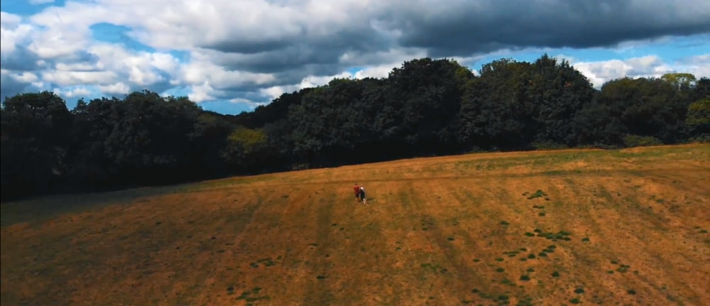 Aerial photograph of the big open fields that we explored during this episode of Walk of the Week. Location: Cardiff