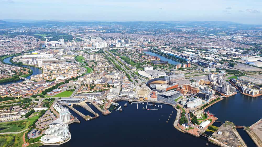 Photograph of Cardiff Bay, after redevelopment.