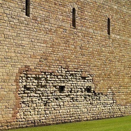 Old roman bricks still remain in the walls of Cardiff Castle, dating back thousands of years.