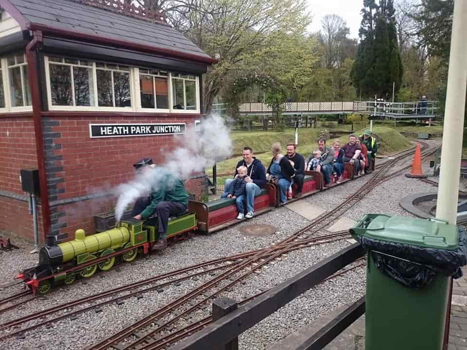 The miniature railway at Heath Park in action (taken from the Cardiff Miniature Engineering Society Facebook page).