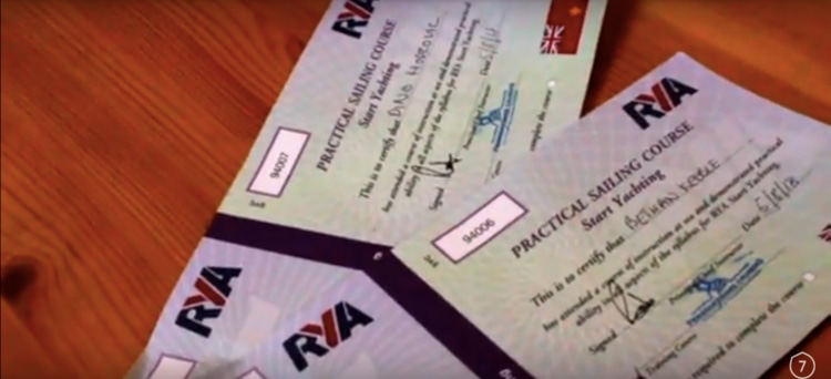 RYA Start Yachting Course certificates from Pembrokeshire Cruising, in West Wales. They are signed off by our skipper and mean are one step closer to being 'competent crew!'