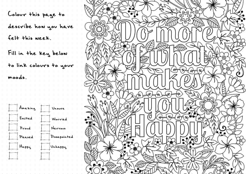 (part 2/2) A super friendly, easy-to-use food and mood log that is free for anyone to download. Track your mood by allocating different colours to moods, and then colour the opposite side of the page depending on how you feel. A great mindfulness exercise that links nicely with anyones weight loss journey. Template is free to download and use by anyone.