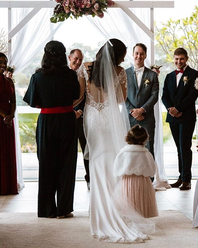 Kim and Ethan wanted their daughter to be evolved in their wedding. I don't think they realised how evolved she was going to be though 😂 Standing on her mums veil as she walked down the aisle 😍😂 —— —— —— #perthwedding #perthweddingphotographer #waweddingphotographer #australianphotographer #weddingphotography#weddingdress #weddingsuit #hellomay #perthbridal #brideandgroom #brideandbride #groomandgroom #bride #groom #bridesmaids #weddingcake #weddingflower #weddingportrait
