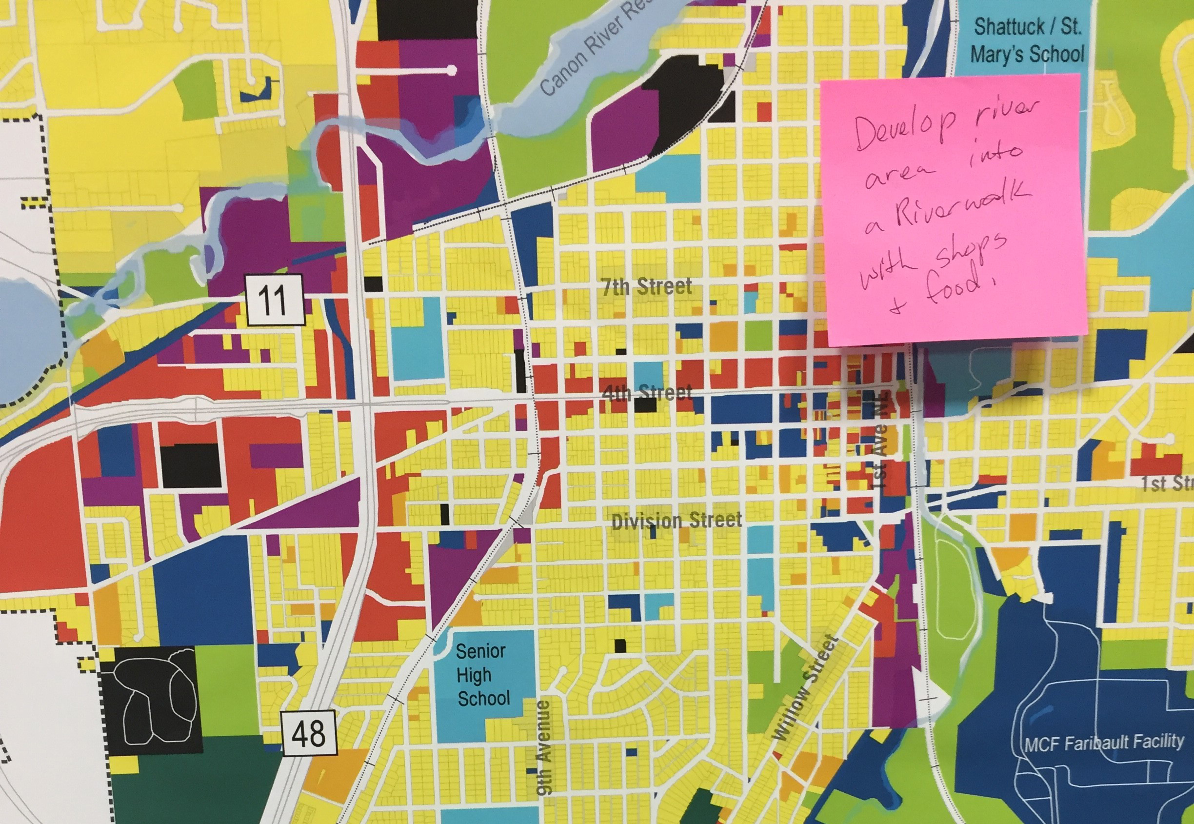 Learn Station - Participants learned about the different natural and socioeconomic systems in Faribault. See the full set of maps HERE
