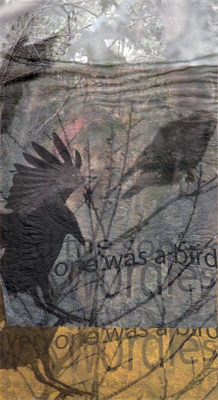 'Wordless Birds 2'  Mixed Media 297x210mm
