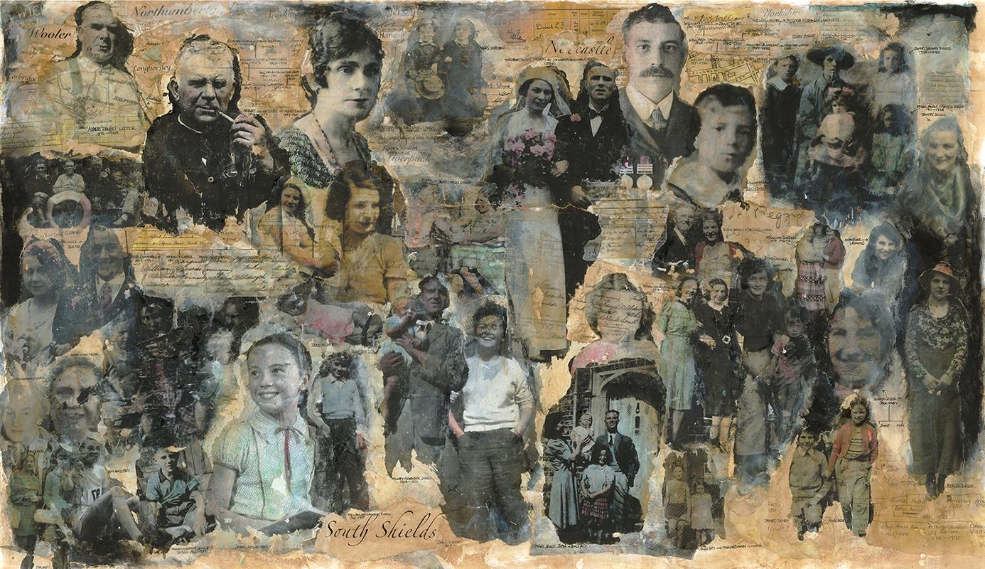 'Family'  Mixed Media 800x1250mm
