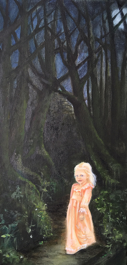 'Kaiya In The Forest'  Oil on canvas 455x230mm