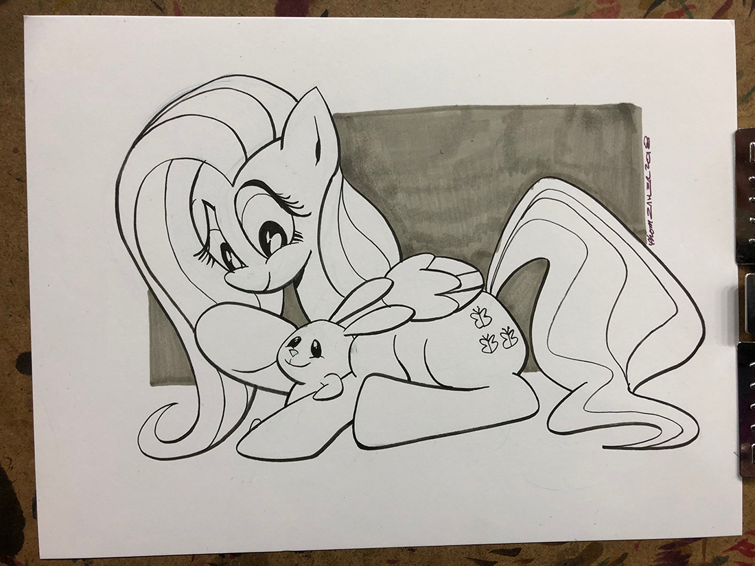 Fluttershy and Angel Bunny