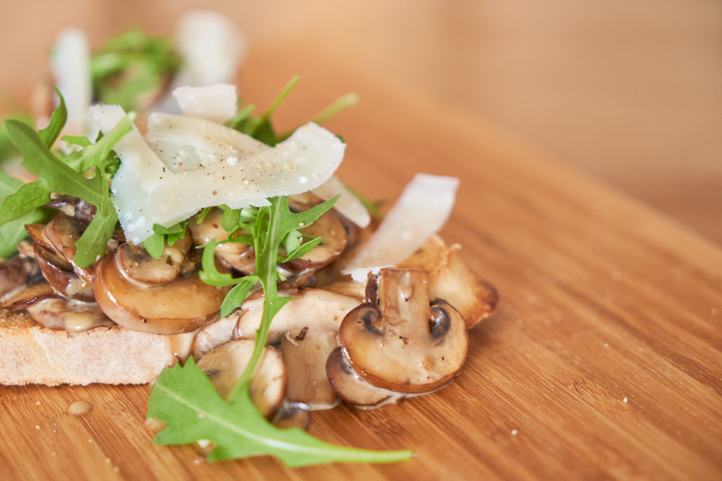 Creamy Mushrooms on Toast - or add rocket leaves and parmesan to take it to the next level | In Carina's Kitchen
