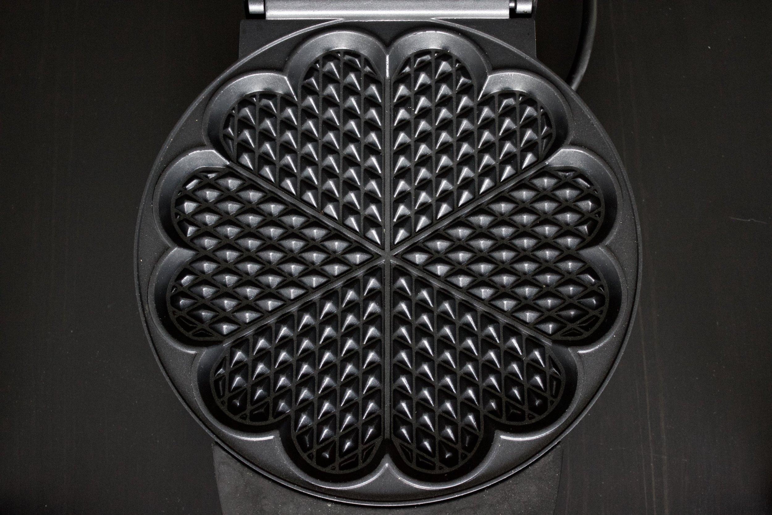 Scandinavian Heart-Shaped Waffles - my heart-shaped waffle iron | In Carina's Kitchen