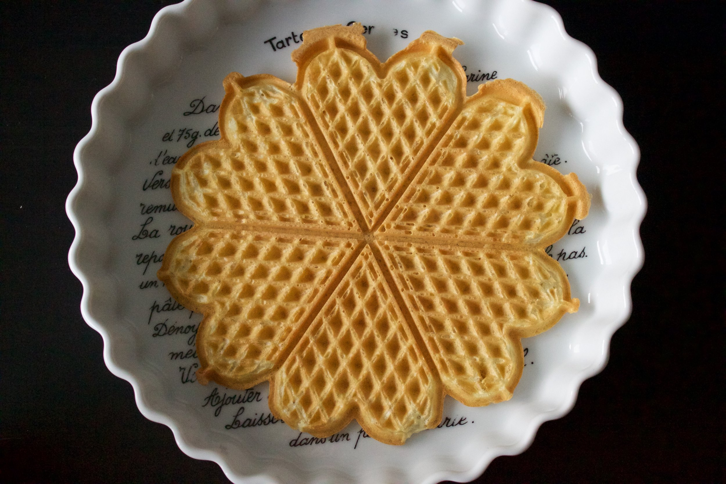 Scandinavian Heart-Shaped Waffles - the resulting waffle | In Carina's Kitchen