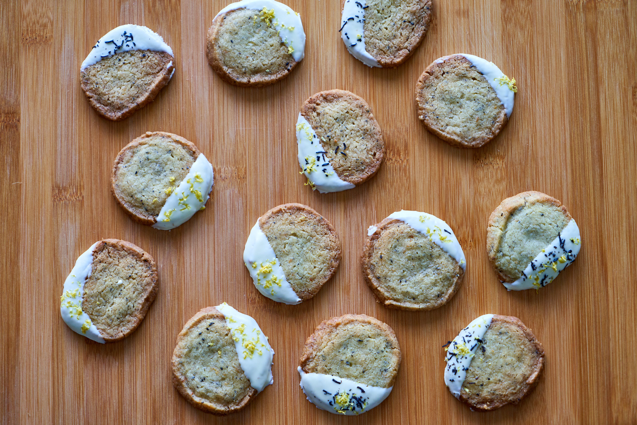 Earl Grey Cookies Dipped in White Chocolate | In Carina's Kitchen