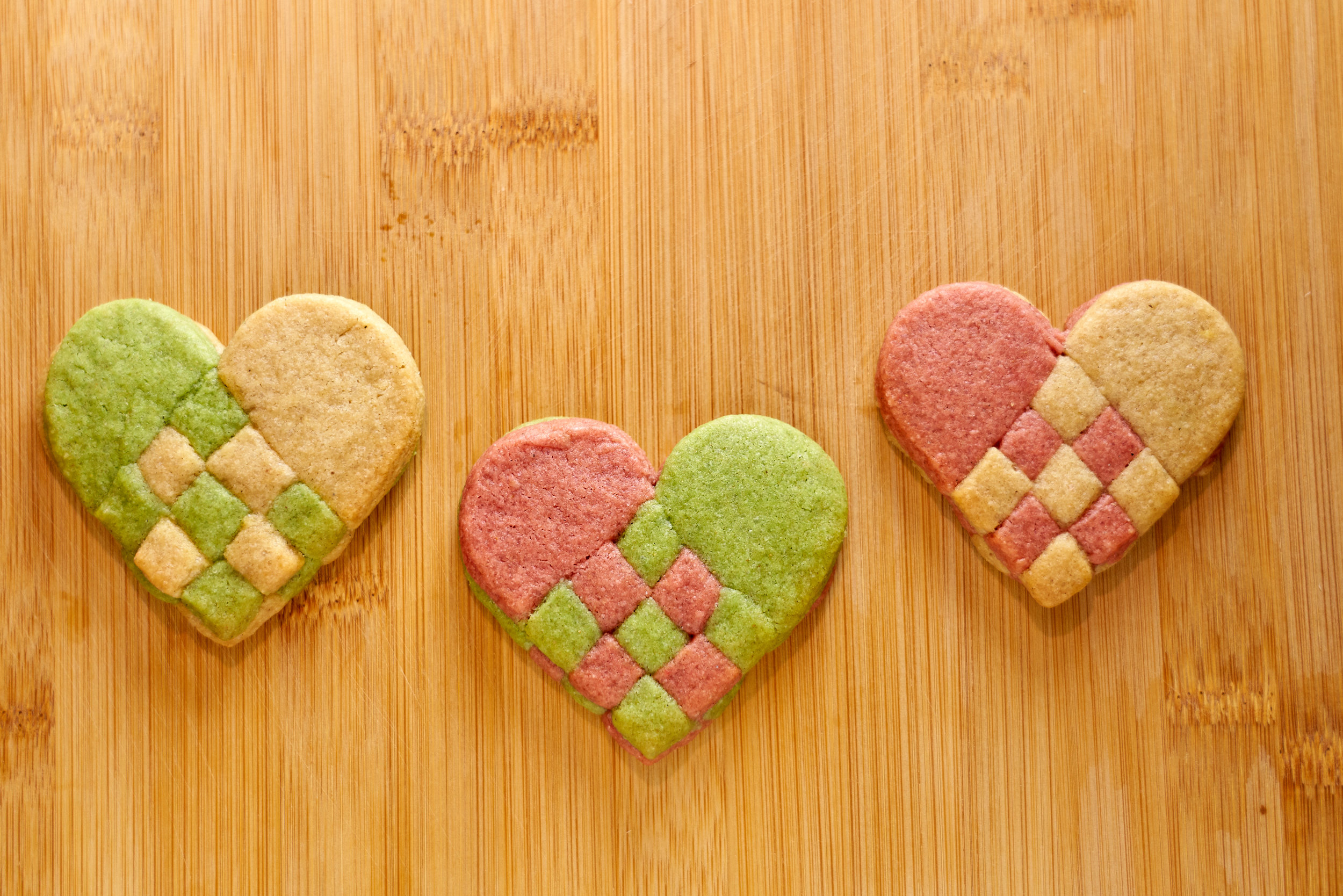 """""""Woven"""" Heart Cookies 