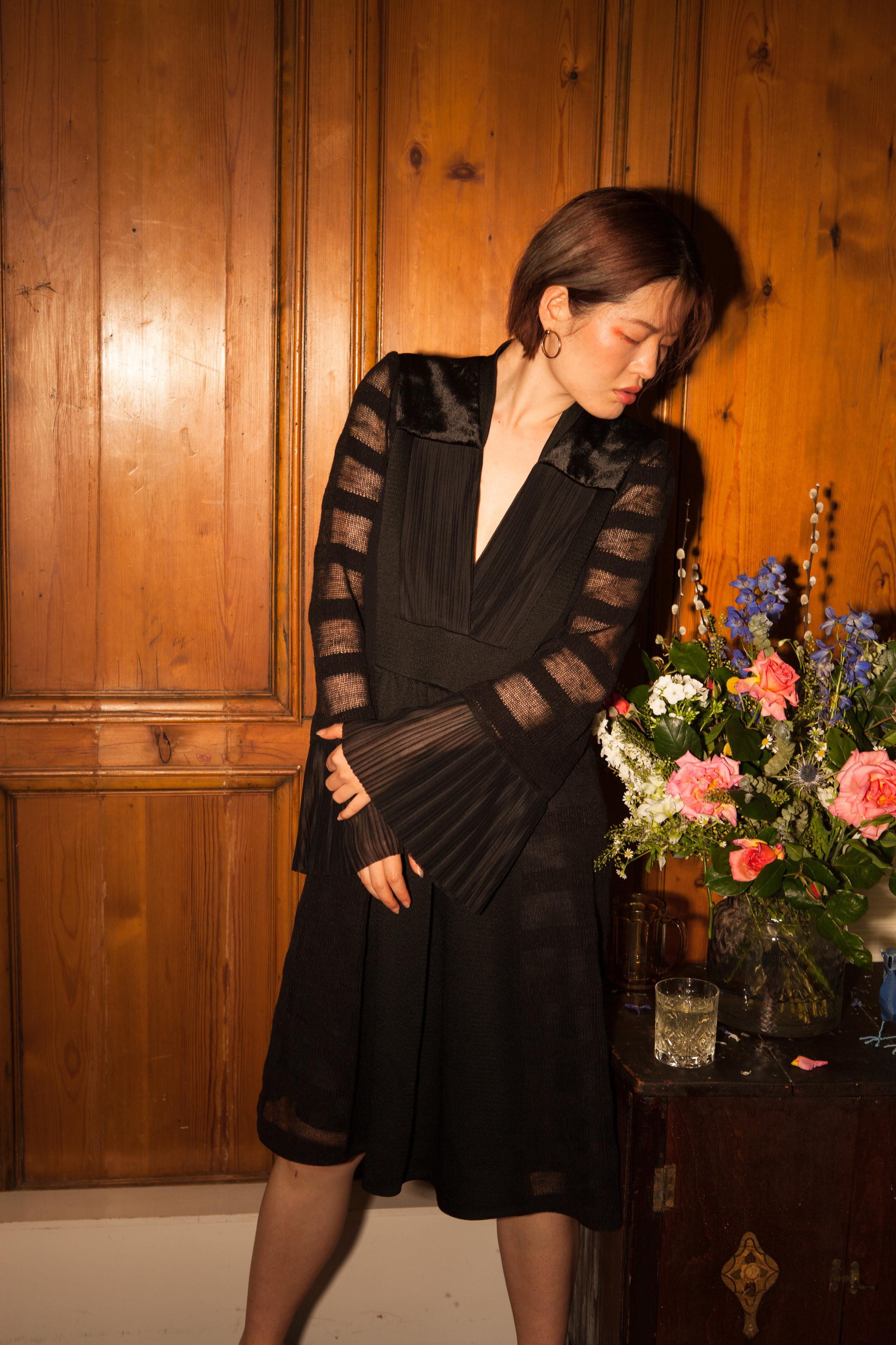 sustainable black dress