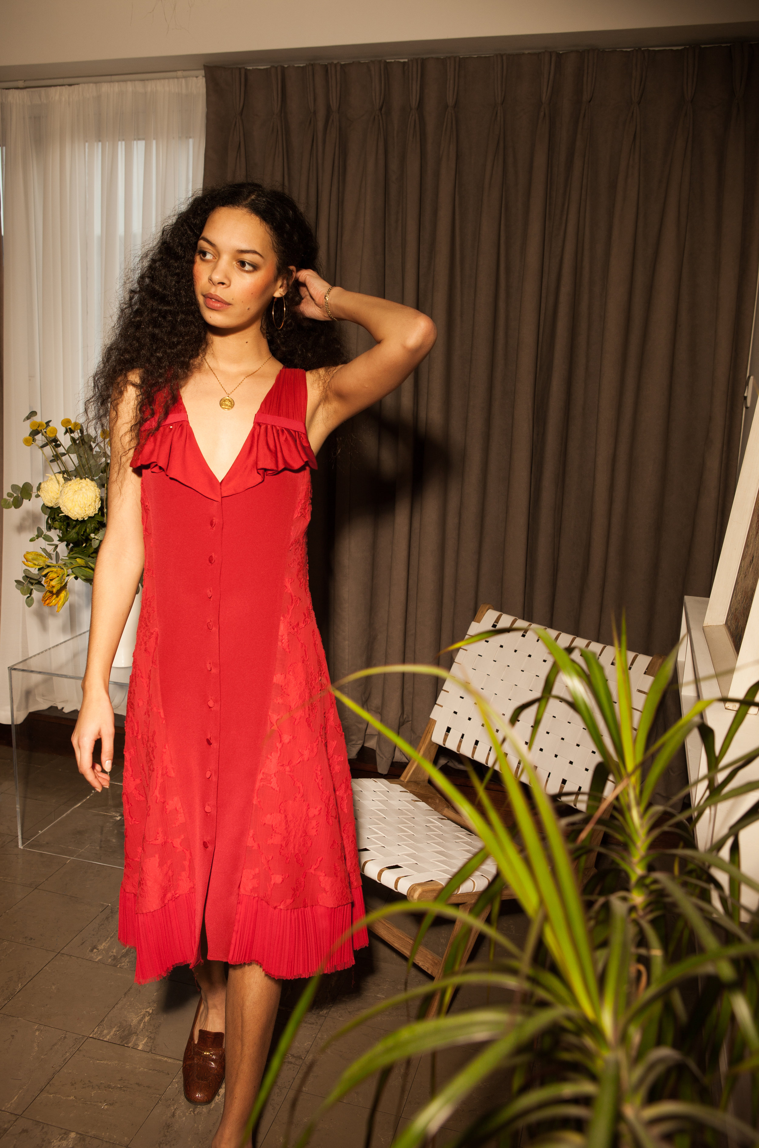 sustainable red party dress by Baue.jpg