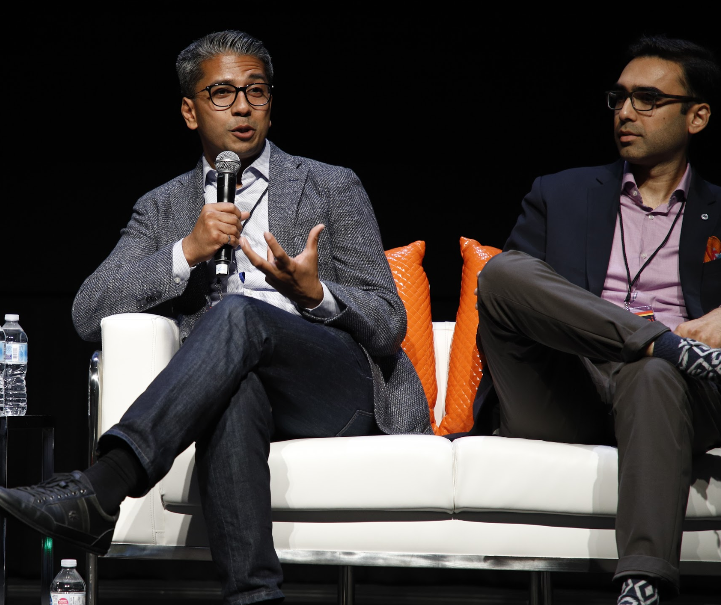 Pavel (left) with fellow panelist Sami Ahmed (right) from BMO @ ABD 2019 Conference in Toronto.