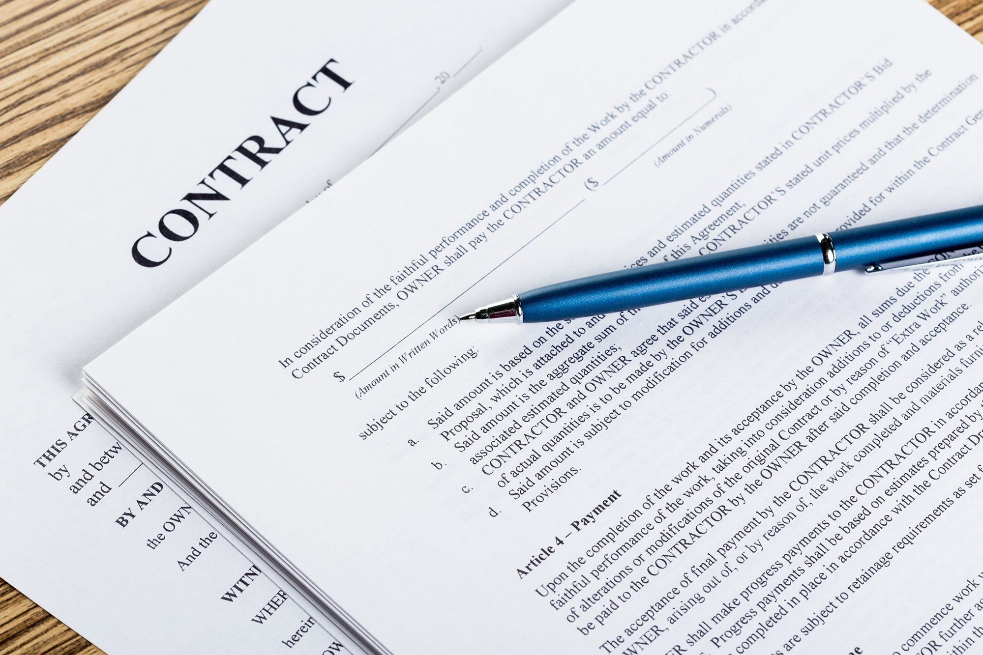 Thomas Construction Consulting and our network of construction professionals will ensure you receive the best pricing and terms on your construction contract.