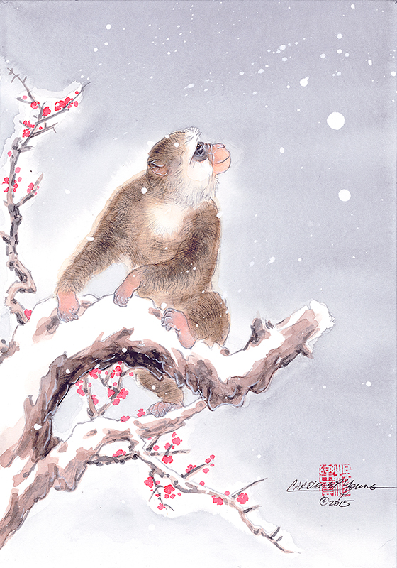 """""""First Snow Year Of The Monkey"""""""