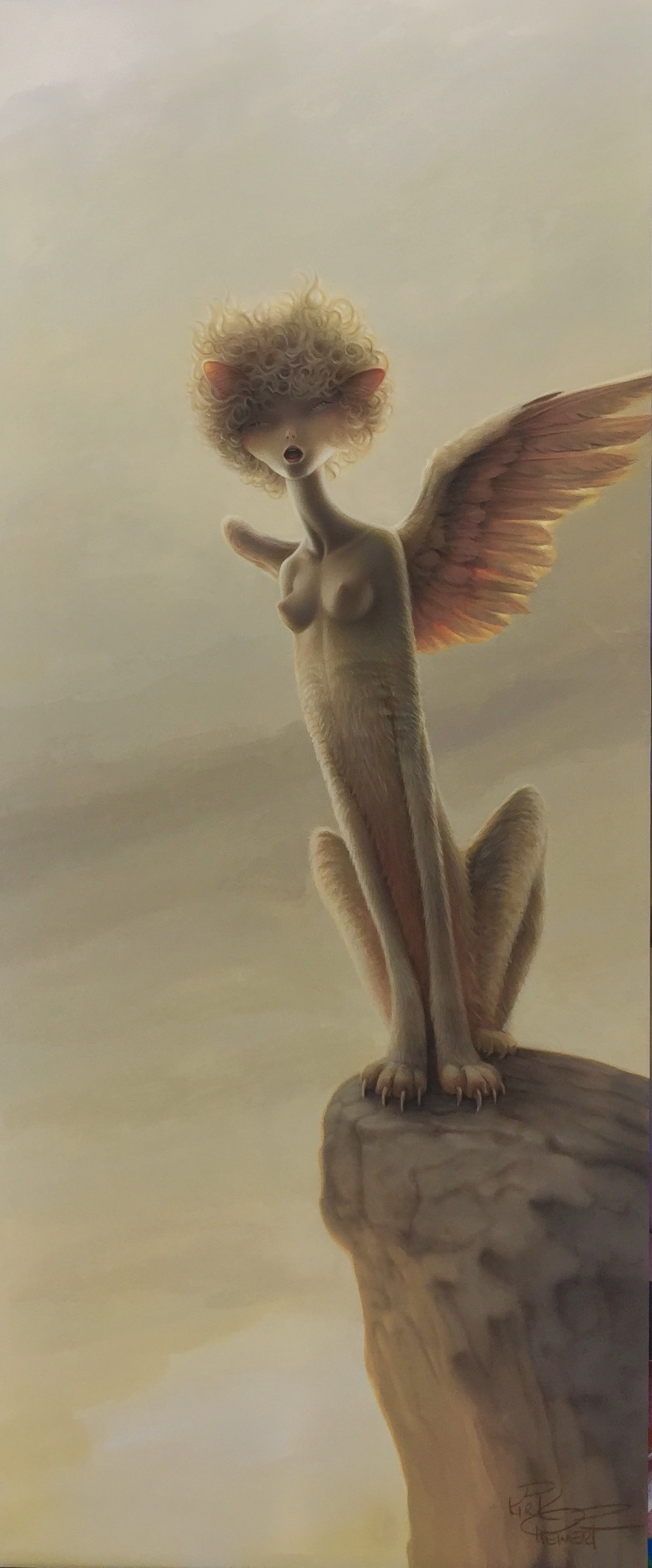 """Sphynx""  Acrylic on Board  25 x 10 inches   INQUIRE"