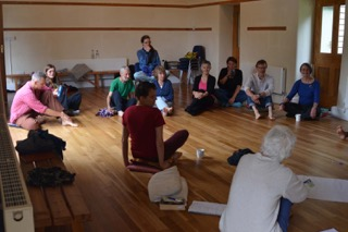 Michael Harvey - storytelling workshop Bleddfa