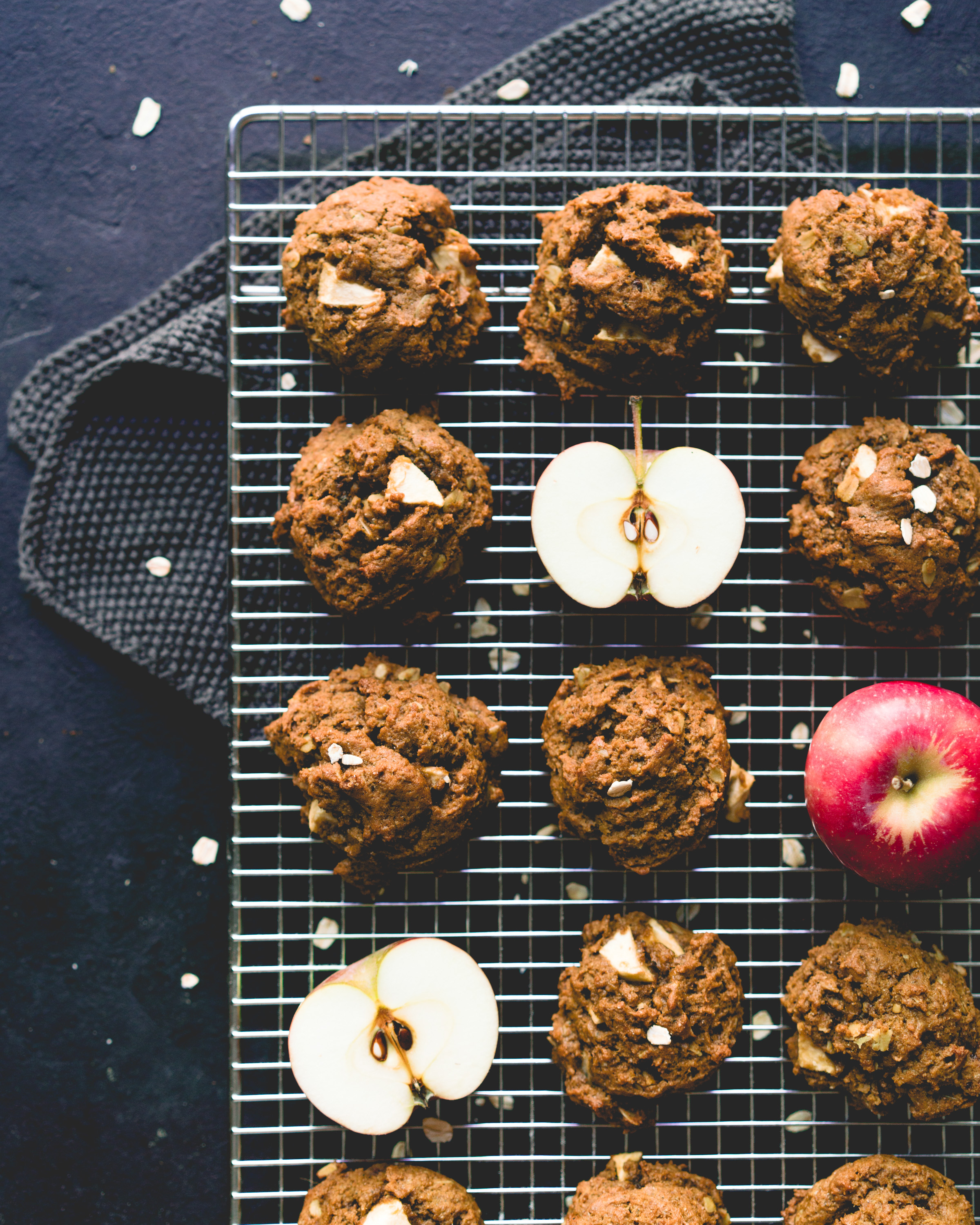 Molasses & Apple Cookies - gives 12-15 cookies