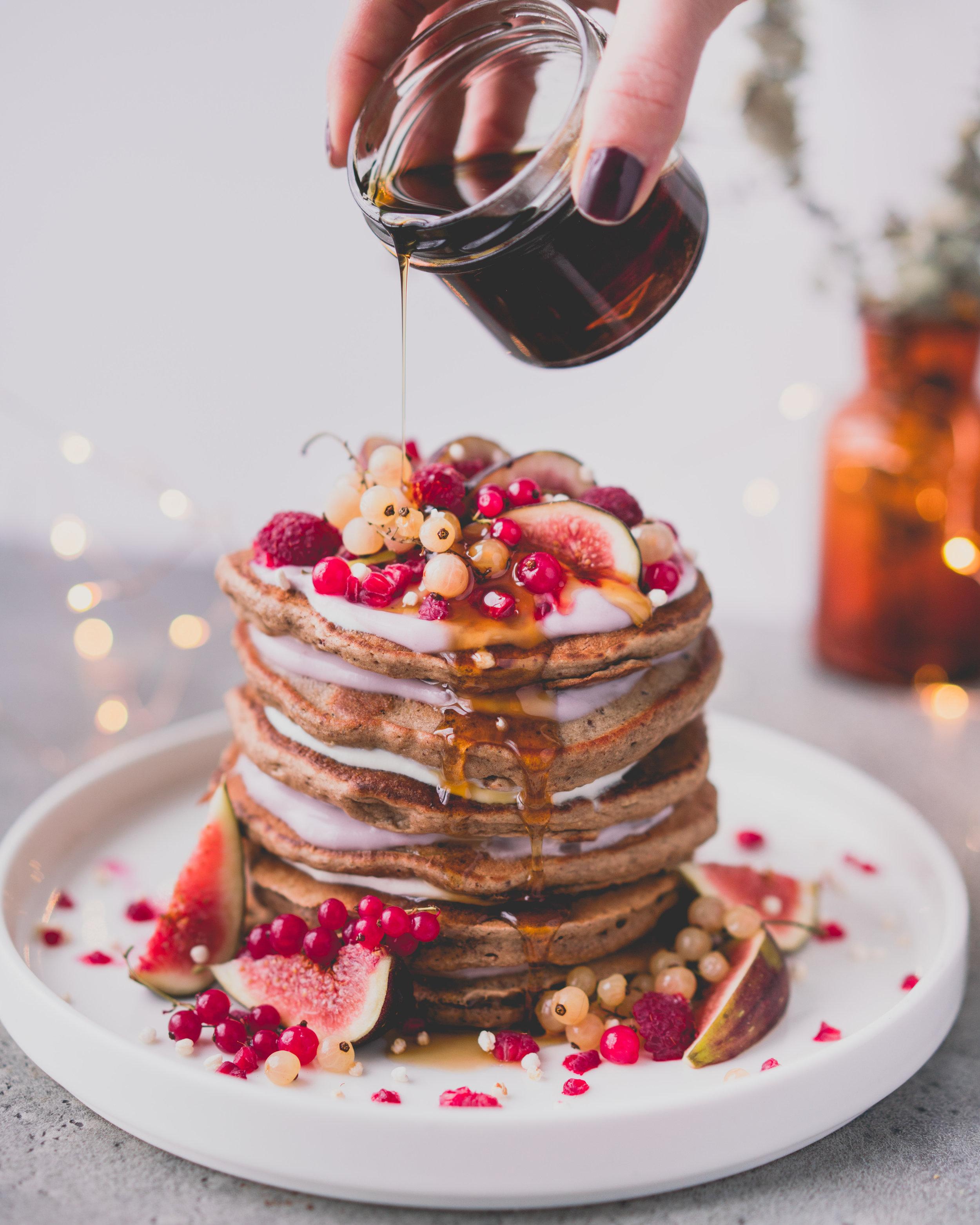 Pancakes véganes - donne 6-8 pancakes