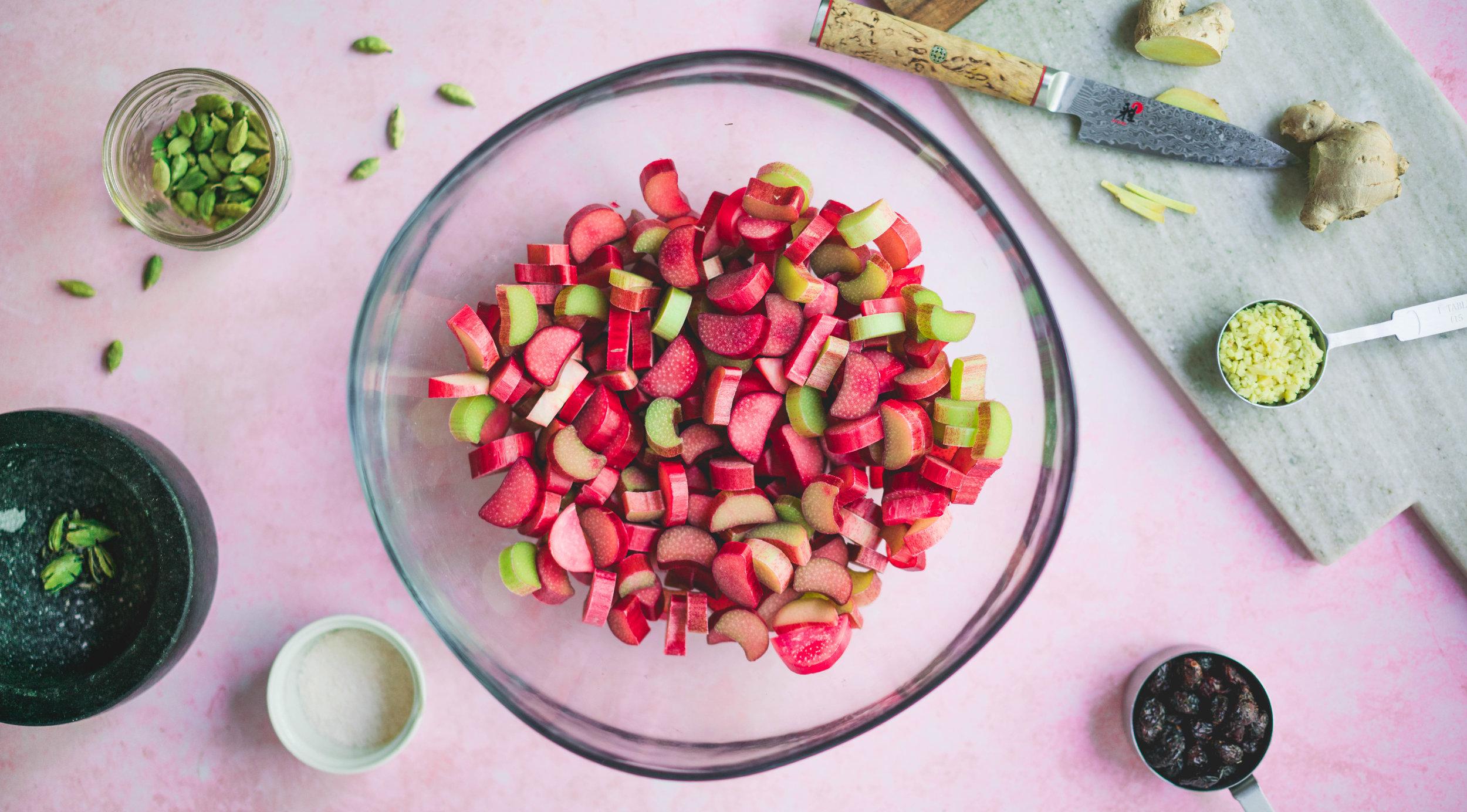 Fermented Rhubarb -