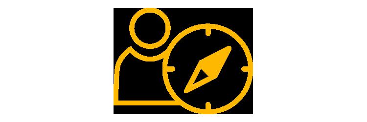 Person and compass icon