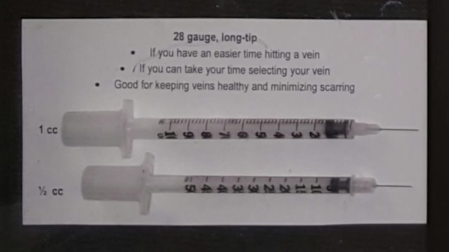 Safer Injection for Young People - Informational video.