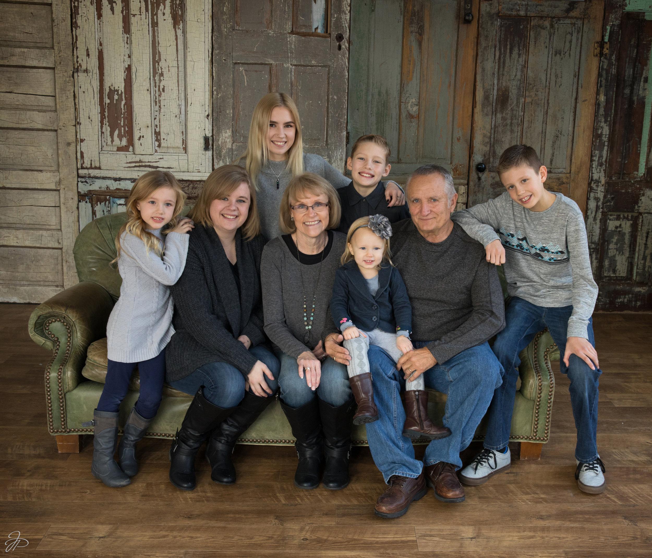 Bob & Cathy with their grandchildren.
