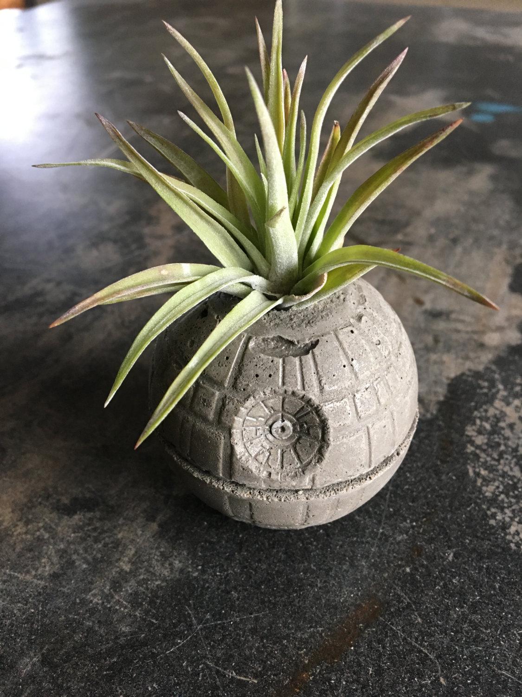 Death Star Concrete Planter