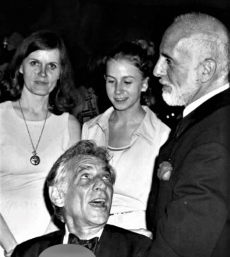 With Mom, Leonard Bernstein and Jerome Robbins (as a performer in Circus Polka)