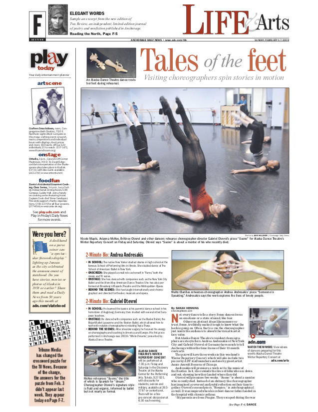 Alaska Dance Theatre Article
