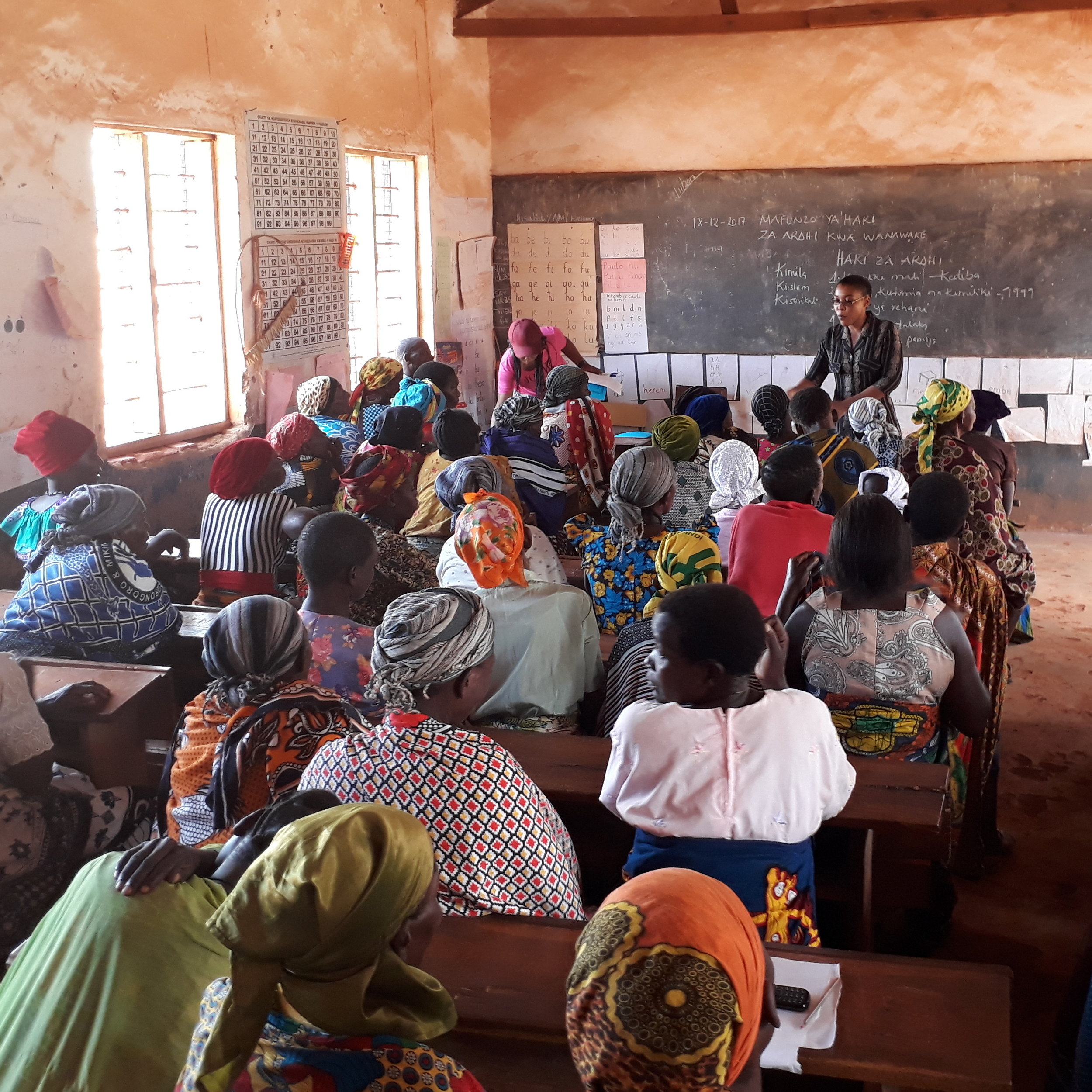 Women attending a land rights workshop.