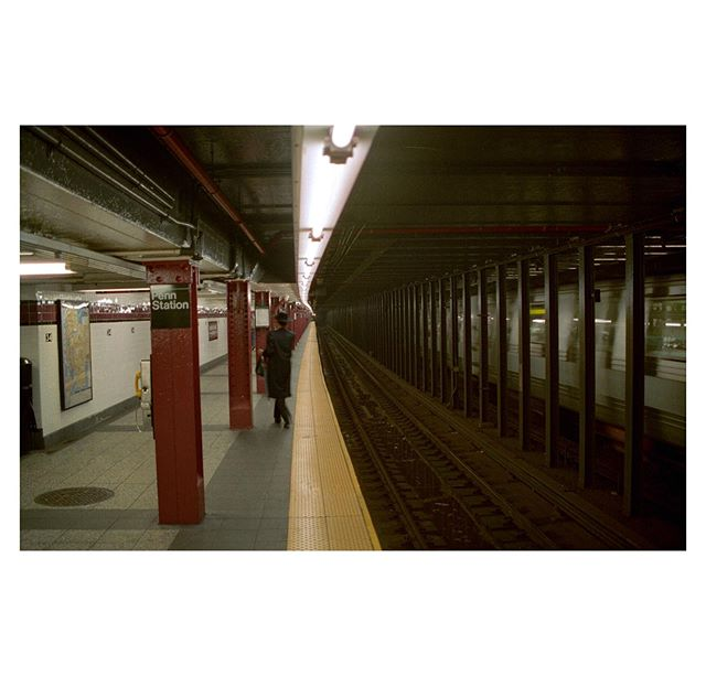 Friday afternoon at Penn Station, c. 2002. (Velvia?)