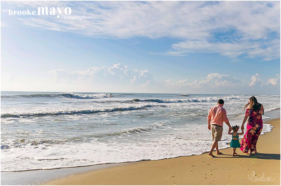 OBX family beach portrait