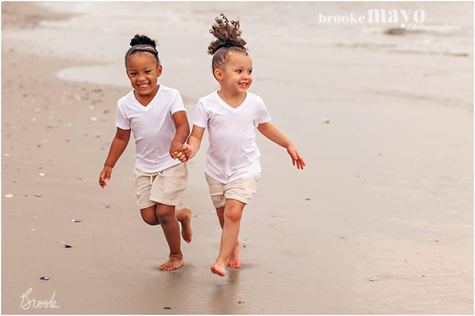 cousins on the beach