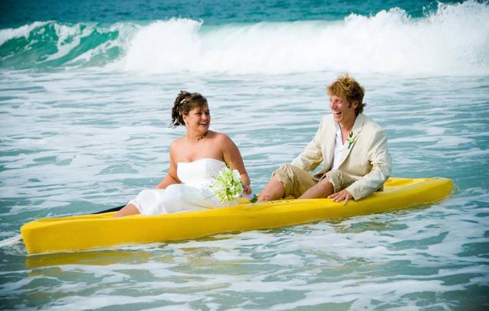 wedding day kayak
