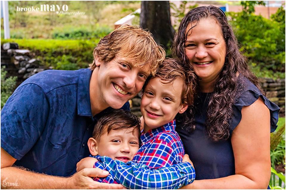 Rainy family portraits