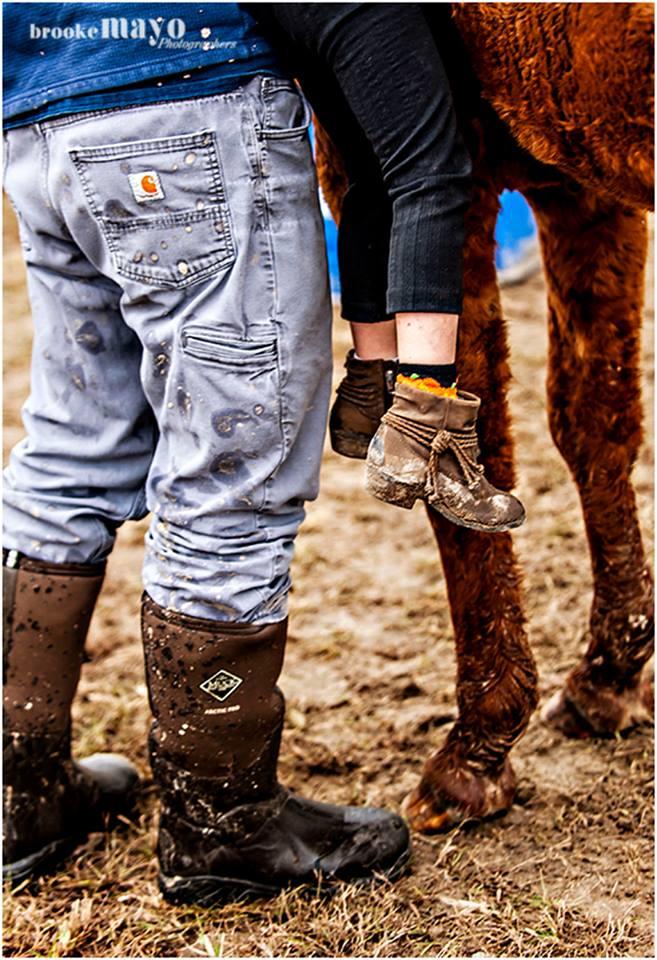 muddy cowgirl